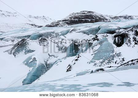 Solheimajokull glacier tongue, Iceland