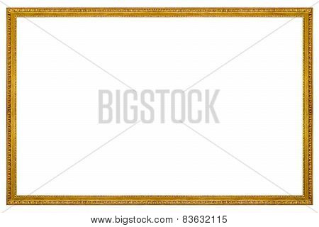 Rectangular Wooden Gilded Frame