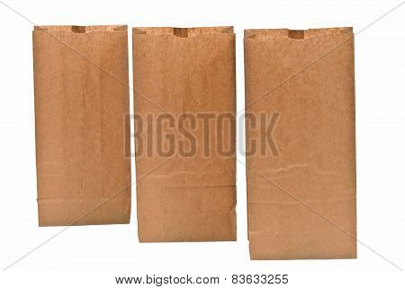 Three Paper Bags Opened