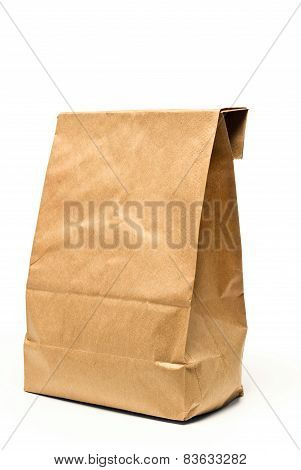 Brown Paper Bag Top Folded