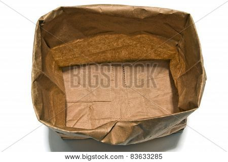 Open Brown Paper Bag