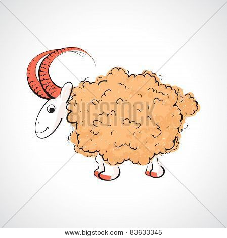Illustration of the sheeps and lambs
