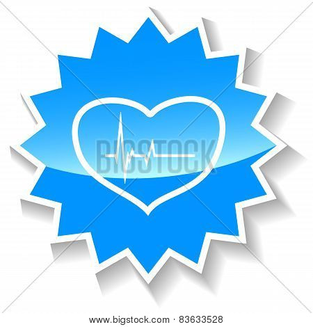 Heartbeat blue icon
