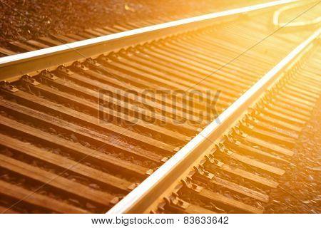 De Focused Railroad Track