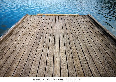 Wooden Floor And Lake