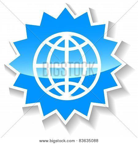 World blue icon