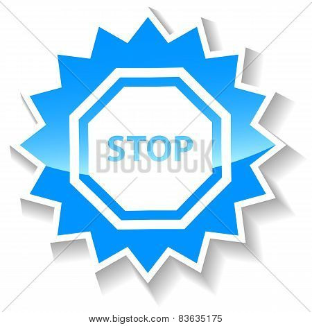 Stop blue icon