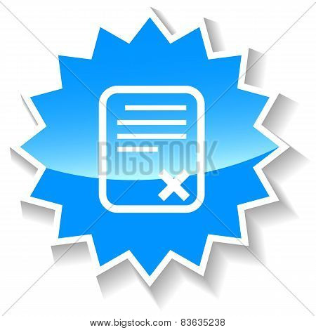 Bad document blue icon