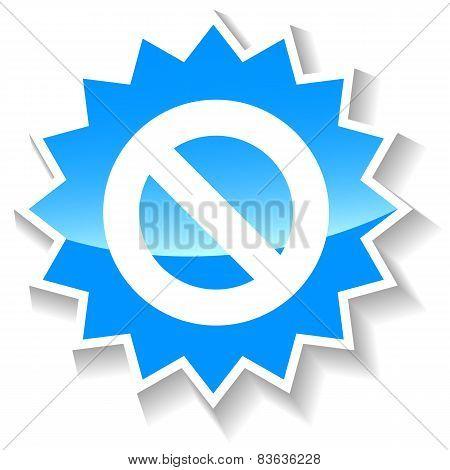 Ban blue icon