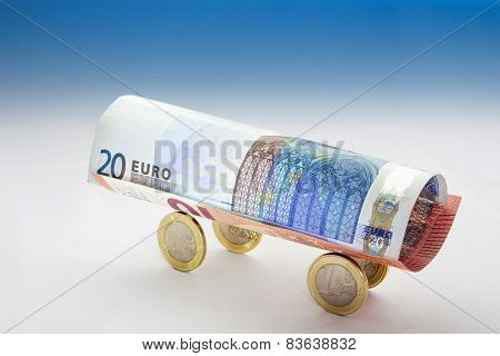 Euro Currency Wagon