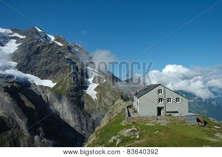 Mountain Hostel Nearby Grindelwald In Switzerland.