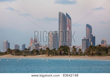 Abu Dhabi Skyline View