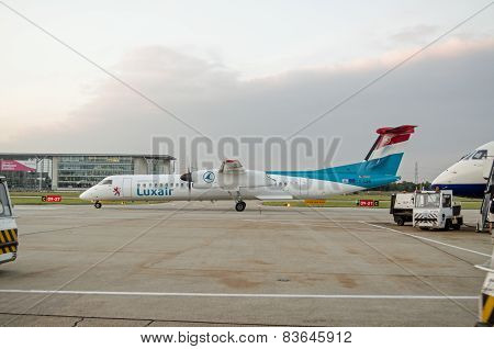 Luxair Plane at City Airport, London