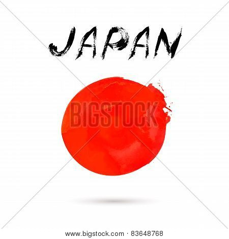 Vector illustration with word Japan