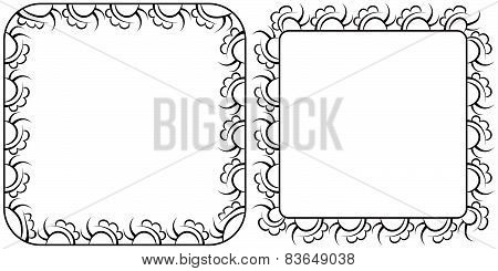 Two Openwork Square Vector Frames For Design