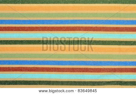 Color Stripe Wool Scarf.