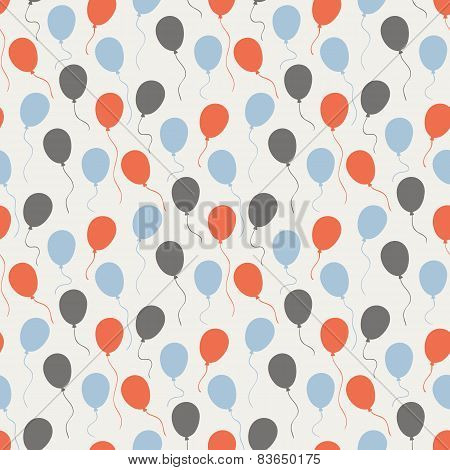 Festive pattern with balloons