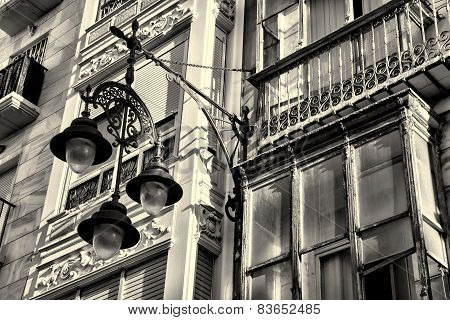 Facade With Street Light
