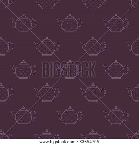 polka-dot teapot pattern