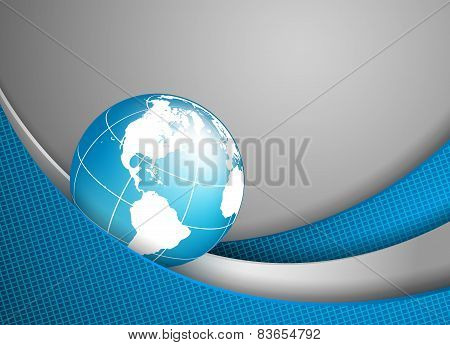 vector background with wavy lines