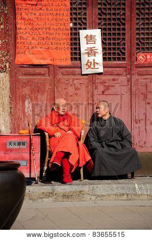 Elderly Buddhist Monk