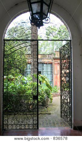 Door to an inner garden