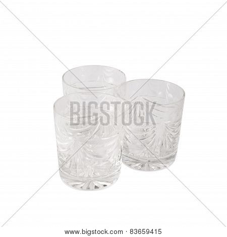 Crystal tumbler glass composition
