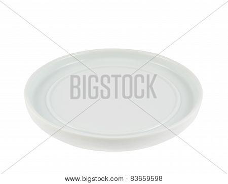 White ceramic dish plate