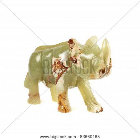 Rhinoceros rhino sculpture isolated