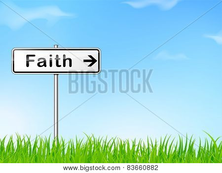 Faith Direction Sign