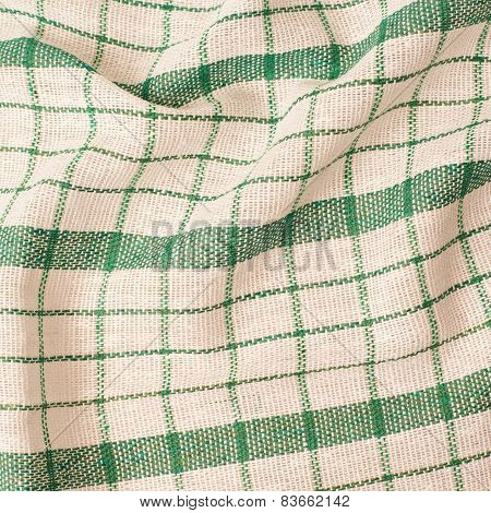 Checkered fragment of cloth