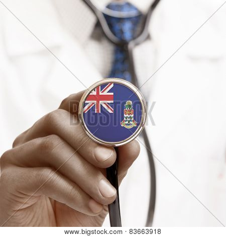 Stethoscope With National Flag Conceptual Series - Cayman Islands