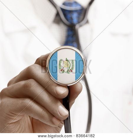 Stethoscope With National Flag Conceptual Series - Guatemala