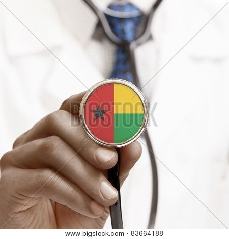 Stethoscope With National Flag Conceptual Series - Guinea-bissau