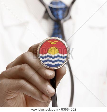 Stethoscope With National Flag Conceptual Series - Kiribati