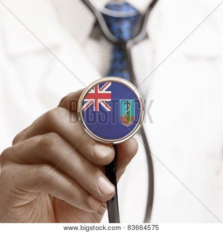 Stethoscope With National Flag Conceptual Series - Montserrat