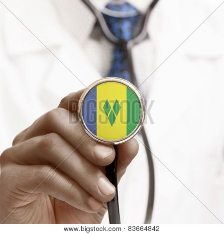 Stethoscope With National Flag Conceptual Series - Saint Vincent And The Grenadines