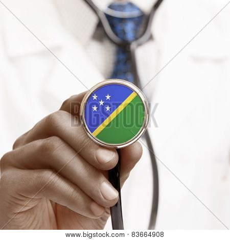 Stethoscope With National Flag Conceptual Series - Solomon Islands