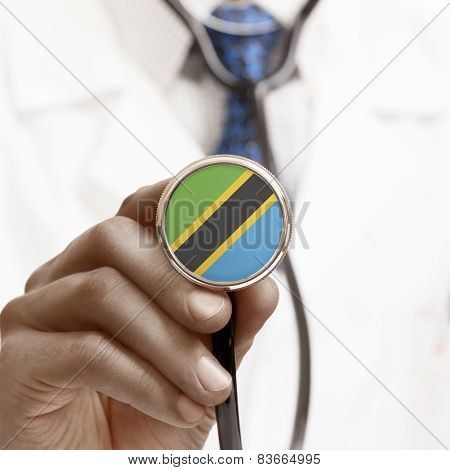 Stethoscope With National Flag Conceptual Series - Tanzania
