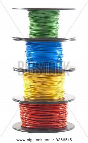 Multicolored wire