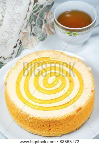 Orange Cake With Tea