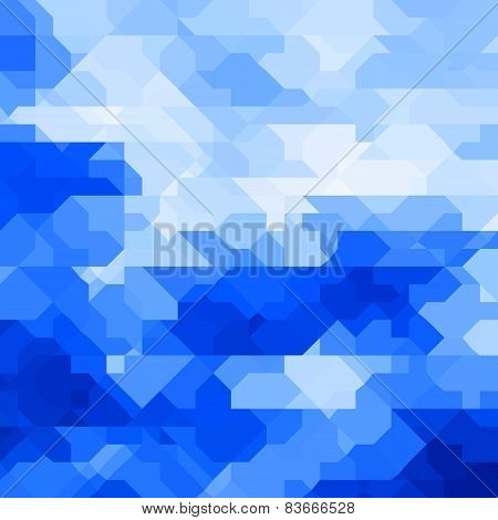 Abstract geometric background with random shapes