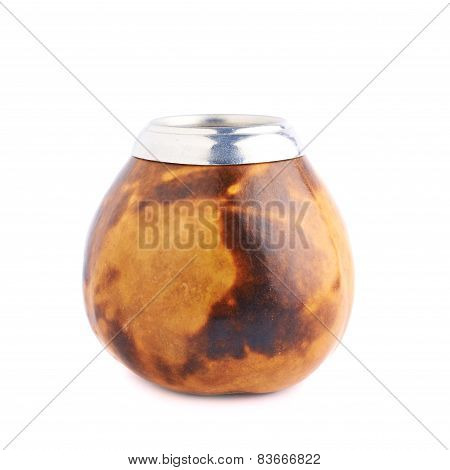 Mate calabash gourd isolated