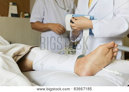 Patient With A Knee Injury