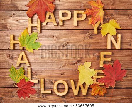 Happy halloween words composition