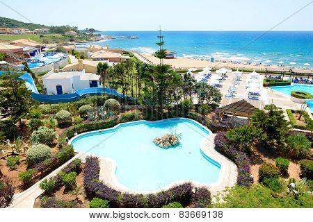 The Beach At Luxury Hotel, Peloponnes, Greece