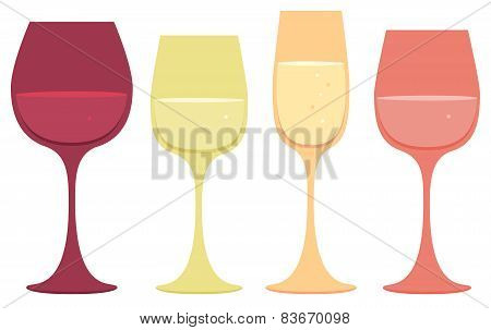 Wine Glass Icons
