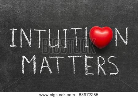 Intuition Matters