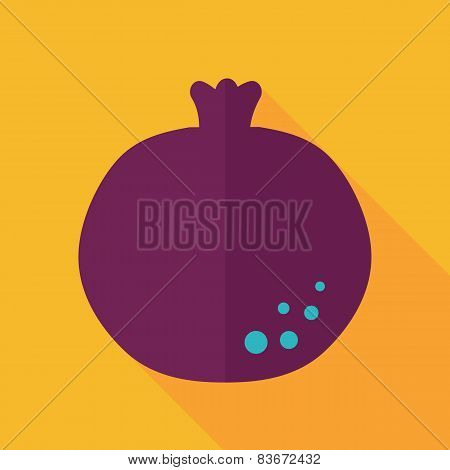 Garnet Flat Icon With Long Shadow