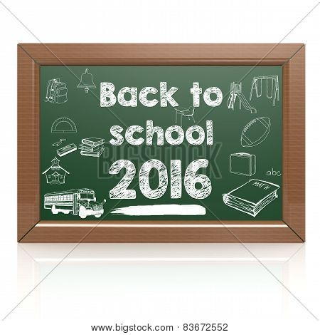 Back To School Green Blackboard